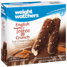 Weight Watchers English Toffee Crunch 12 ct Ice Cream Bar