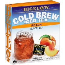 Bigelow Cold Brew Iced Tea Peach Black Tea