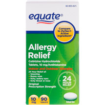 Equate Allergy 24 Hour Indoor & Outdoor Tablets