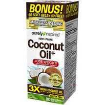 Purely Inspired 100% Pure Coconut Oil Dietary Supplement Soft Gels