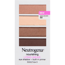 Neutrogena Nourishing Long Wear Eye Shadow + Built-In Primer Mink Brown 50