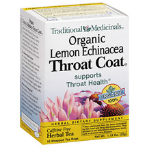Traditional Medicinals Organic Lemon Echinacea Throat Coat Herbal Dietary Supplement Tea Bags