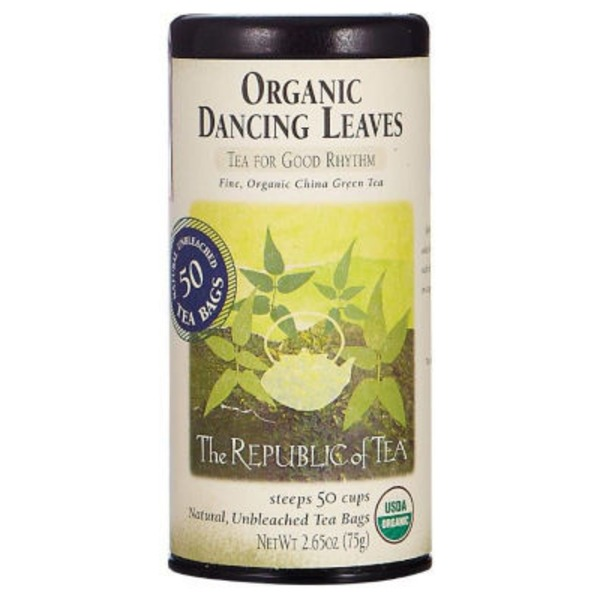 The Republic of Tea Organic Dancing Leaves Green Tea Bags