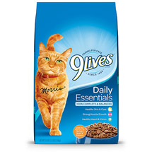 9 Lives Daily Essentials w/Real Salmon Chicken & Beef Cat Food