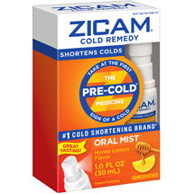 Zicam Honey Lemon Cold Remedy Plus Oral Mist