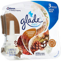 Glade PlugIns Cashmere Woods Scented Oils Refills