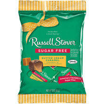 Russell Stover Covered With Chocolate Candy Sugar Free Butter Cream Caramel