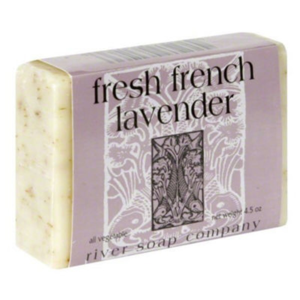 River Soap Company Fresh French Lavender Body Bar Soap