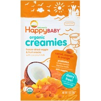 Happy Baby/Family Organic Creamies Carrots, Mango & Orange Freeze-Dried Veggie & Fruit Snacks