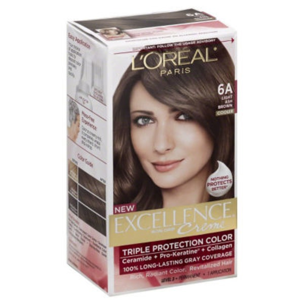 Excellence Creme Triple Protection 6A Cooler Light Ash Brown Hair Color