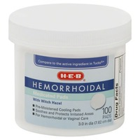H-E-B Hemorrhoidal Medicated Pads With Witch Hazel