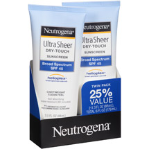 Neutrogena Ultra Sheer Dry-Touch Sunscreen Lotion Broad Spectrum SPF 45