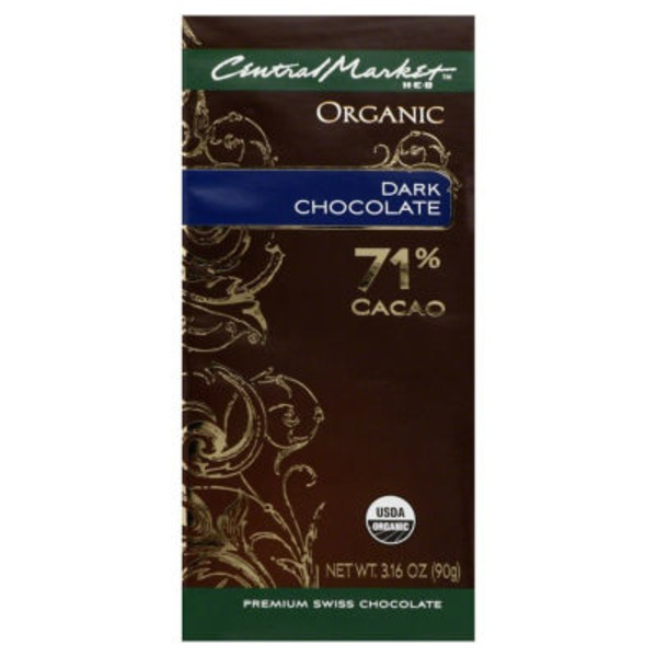 H-E-B Central Market Organic 71% Dark Chocolate Bar