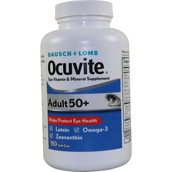 Bausch & Lomb Ocuvite Vitamin And Mineral Supplement Adult 50+ Soft Gels