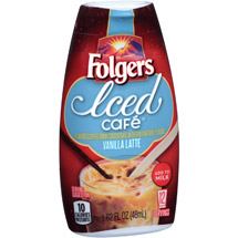 Folgers Iced Cafe Vanilla Latte Coffee Drink Concentrate