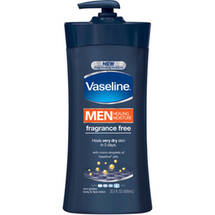 Vaseline Men Healing Moisture Fragrance Free Body and Face Lotion