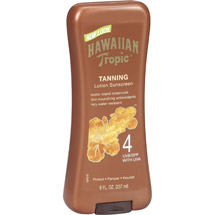 Hawaiian Tropic Sunscreen Tanning Lotion SPF 4