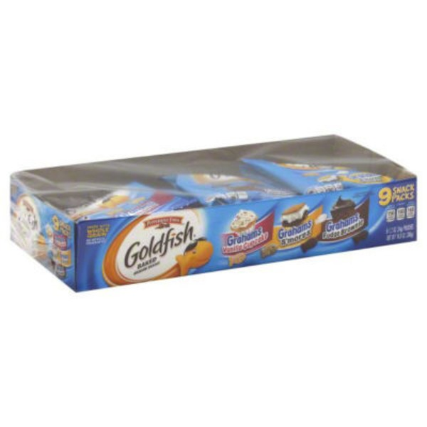 Pepperidge Farm Goldfish Variety Pack Vanilla Cupcake, S'mores, Fudge Brownie Baked Graham Snacks