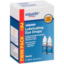 Equate Moisturizing Lubricating Eye Drops