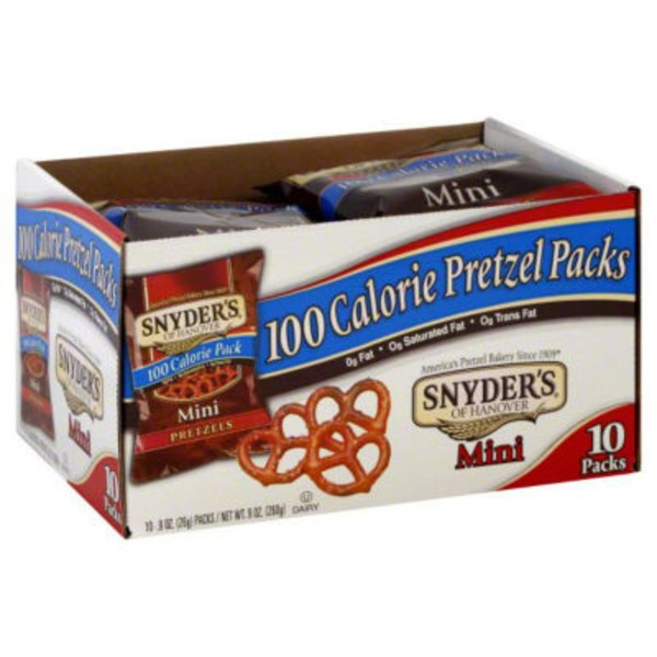 Snyder's of Hanover Mini 100 Calorie Pk .9 Oz Pretzels