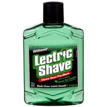 Williams Electric Razor Pre Shave Original With Soothing Green Tea Complex Lectric Shave