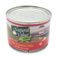 Natural Value Mild Diced Green Chilies