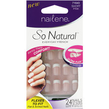 Nailene So Natural Everyday French Artificial Nail Kit 71643 Short Pink