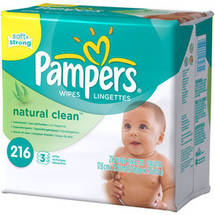 Pampers Natural Clean Wipes 3x Refill