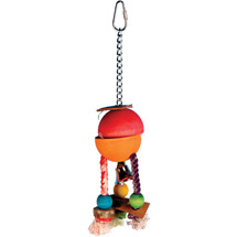 Penn Plax Caribbean Hide-a-Treat Bird Toy