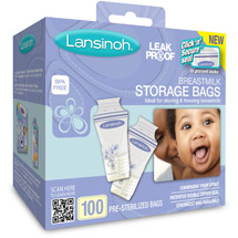Lansinoh Breast Milk Storage Bags 100 ct BPA-Free