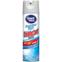 Great Value Fresh Linen Scent Disinfectant Spray