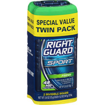 Right Guard Sport 3-D Odor Defense Invisible Solid Fresh Deodorant