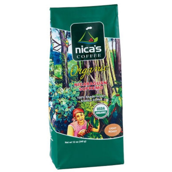 Nica's Coffee Organic Nicaraguan Supremo Ground Light Roast Coffee