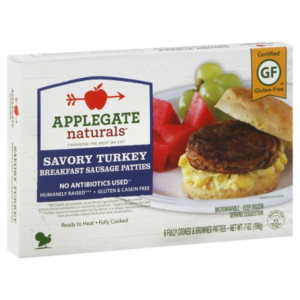 Applegate Natural Savory Turkey Breakfast Patty