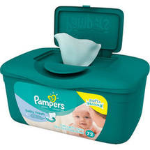 Pampers Scented Soft Care Baby Wipes Pop Up Tub