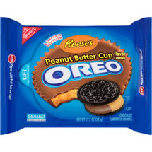 Nabisco Reese's Peanut Butter Cup Creme Oreo Chocolate Sandwich Cookies