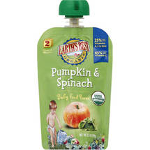 Earth's Best Organic Stage 2 Pumpkin & Spinach Baby Food Puree