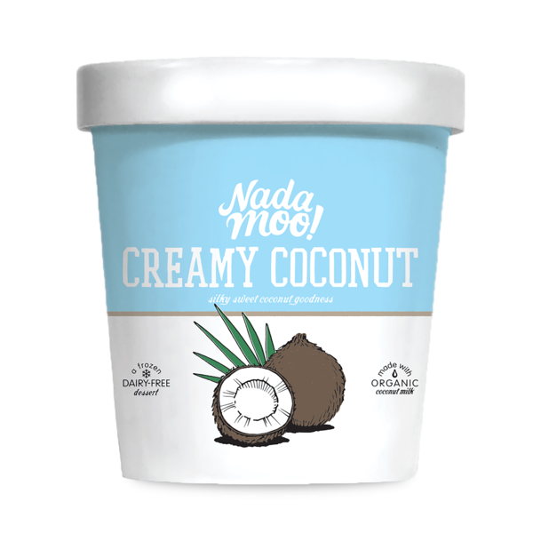 Nadamoo! Organic Creamy Coconut Ice Cream Made With Coconut Milk
