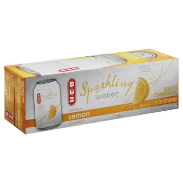 H-E-B Lemon Sparkling Water