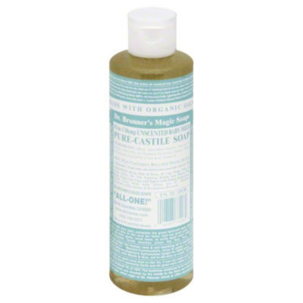Dr. Bronner's Hemp Baby Unscented Pure Castile Soap