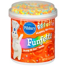Pillsbury Funfetti Orange All Star Vanilla Frosting
