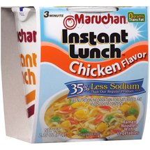 Maruchan Instant Lunch 35% Less Sodium Chicken Flavor Ramen Noodles with Vegetables