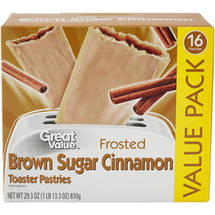 Great Value Frosted Brown Sugar Cinnamon Toaster Pastries