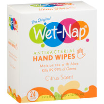 Wet-Nap Citrus Scent Antibacterial Hand Wipes