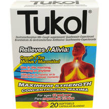 Tukol Cough Suppressant/Expectorant Softgels
