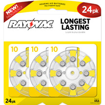 Rayovac Type 10 Hearing Aid Batteries