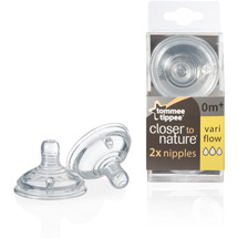 Tommee Tippee Closer to Nature Nipple Variable Flow BPA Free
