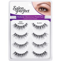 Salon Perfect Perfectly Glamorous Multi Pack Eyelashes Demi Wispies Black
