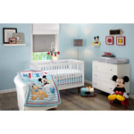 Disney Let's Go Mickey Mouse 3-Piece Crib Bedding Set