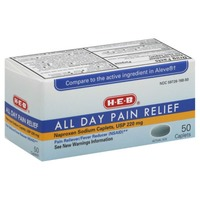 H-E-B All Day Pain Relief Naproxen Sodium 220 Mg Caplets